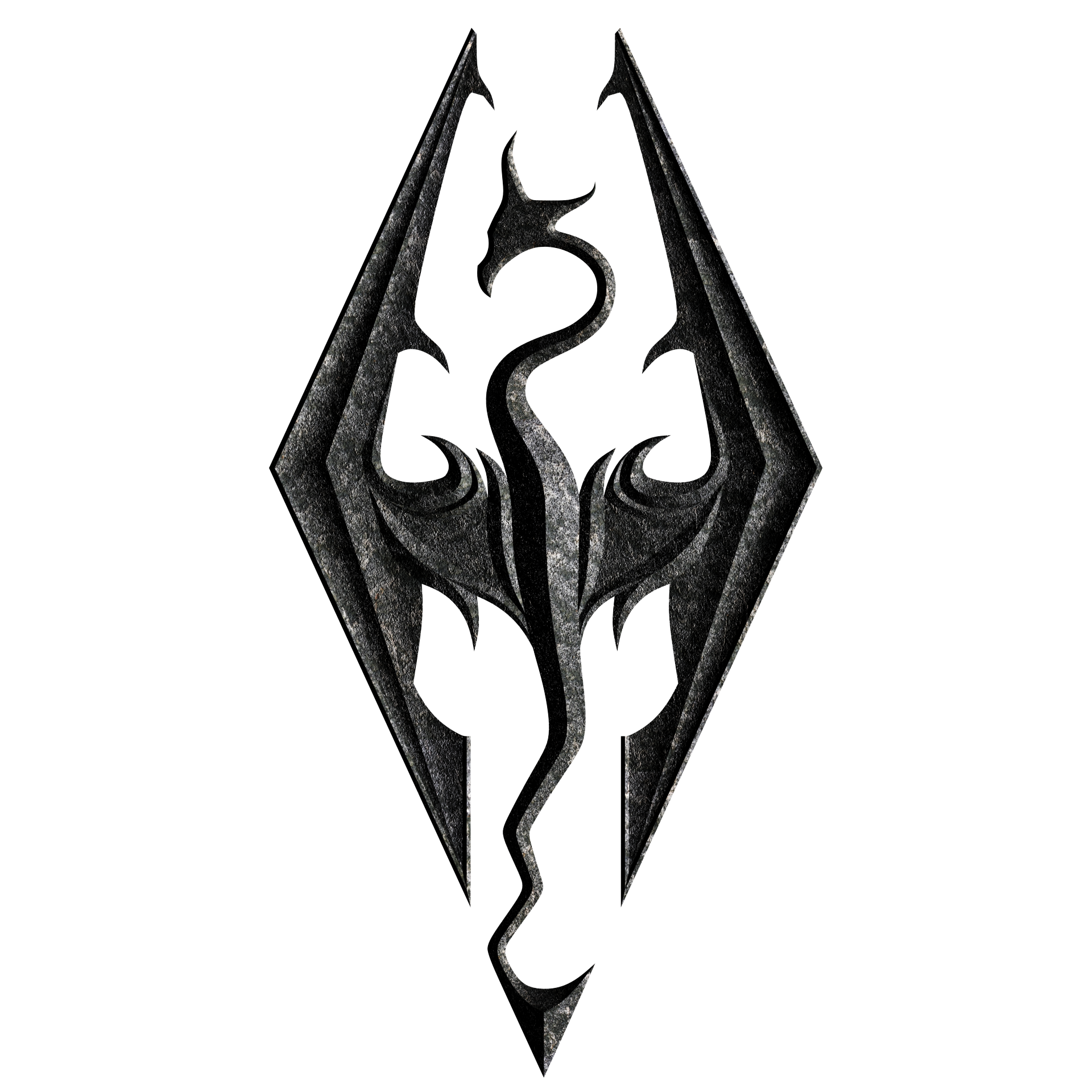 Skyrim logo png. Symbol meaning history and
