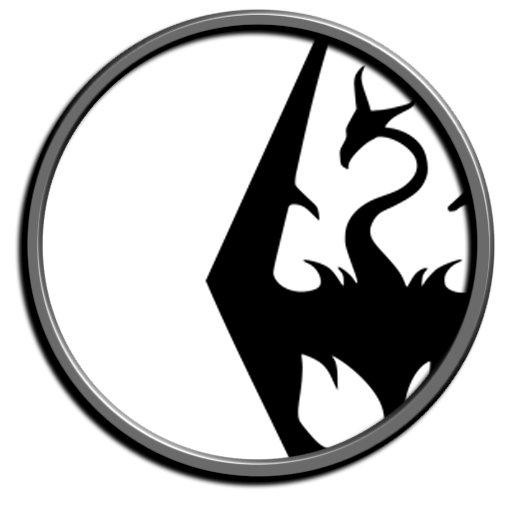 Skyrim png icon. Better looking desktop icons
