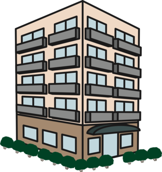 Apartment clipart apartment house. High rise building television