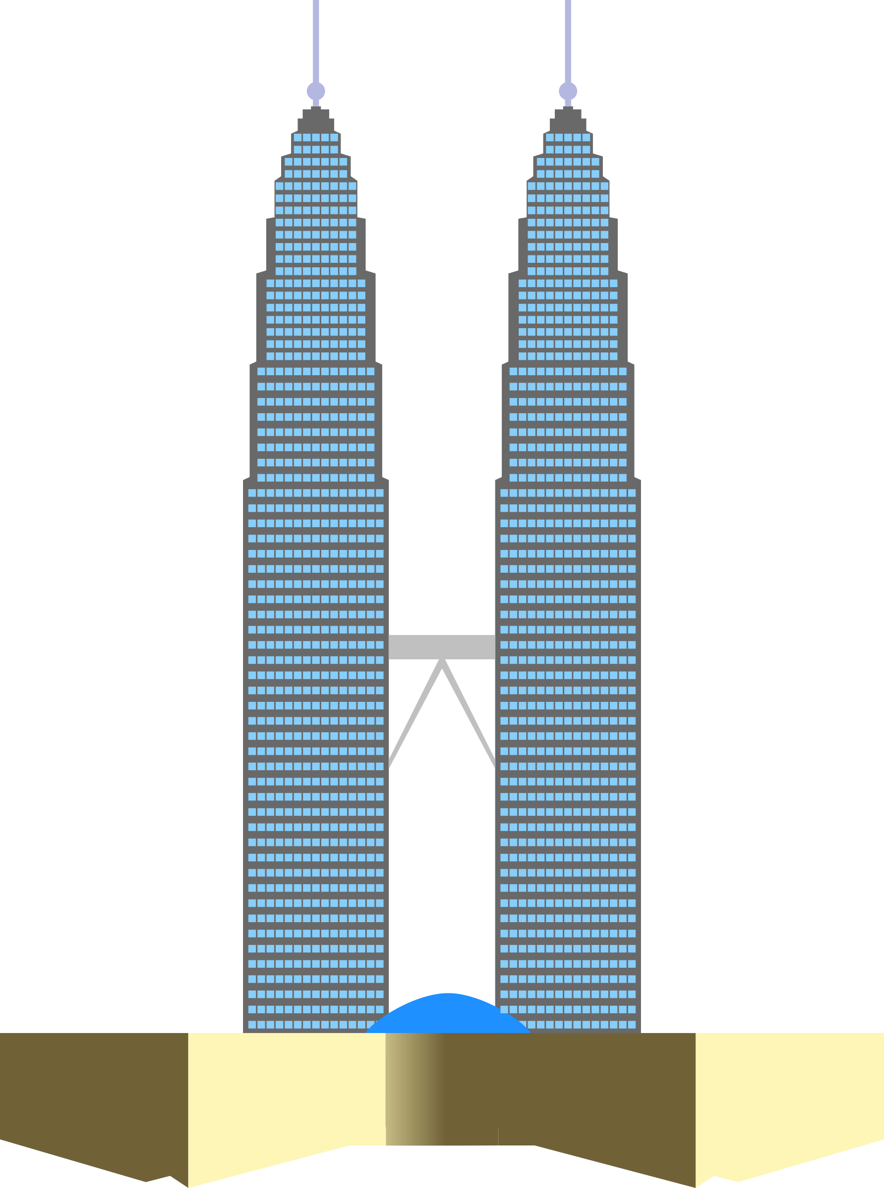 Tower clipart building tower. Petronas twin towers big