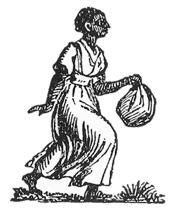 Slaves drawing person. Freedom on the move