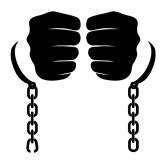 Chain clipart enslaved. Slavery broken off on