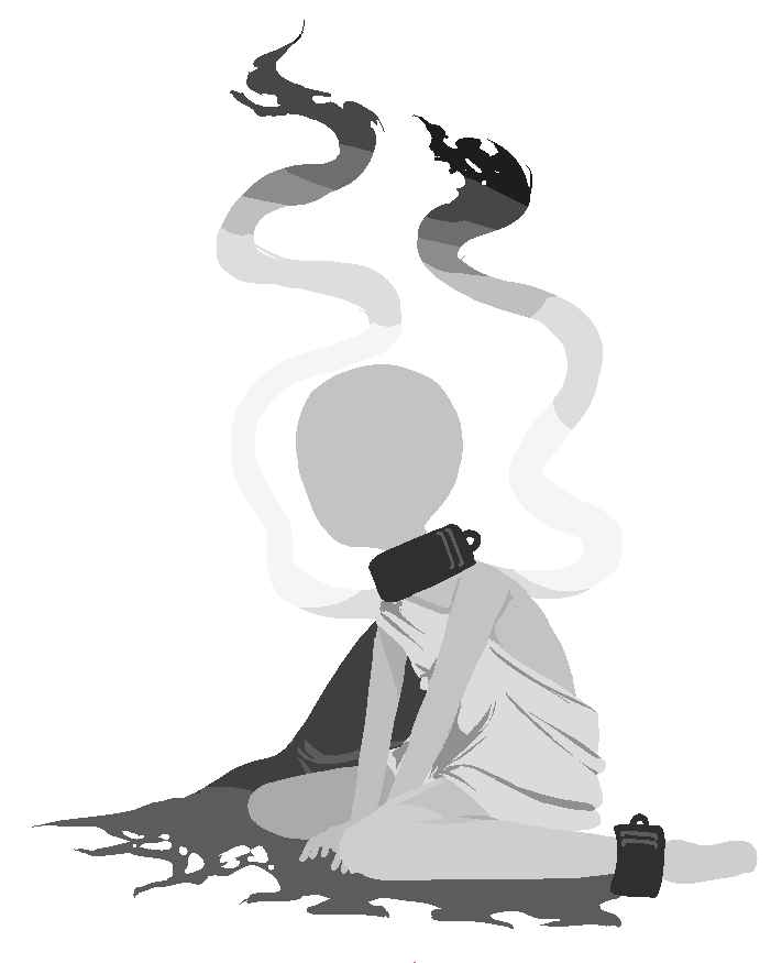 Slaves drawing sad. Slave silhouette for