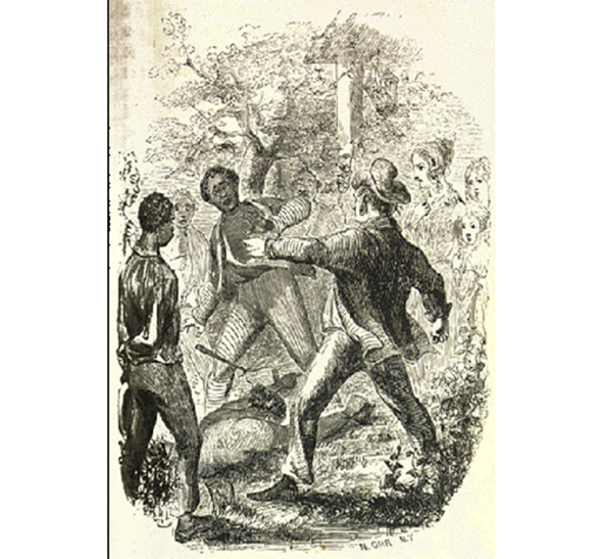 Slaves drawing depiction. Globalyceum mistress watching her
