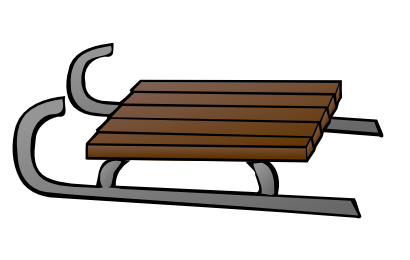 Sledding drawing the giver. Snow sled clipart