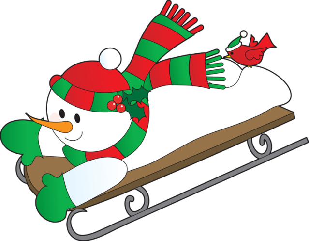 Sledding drawing snow sled. Free cliparts download clip