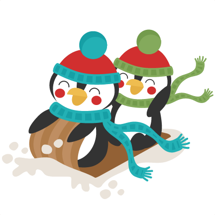 Penguins sledding winter svg. Sled clipart people svg black and white library