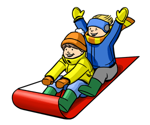 Snowday archives nyc on. Sled clipart people clipart free download