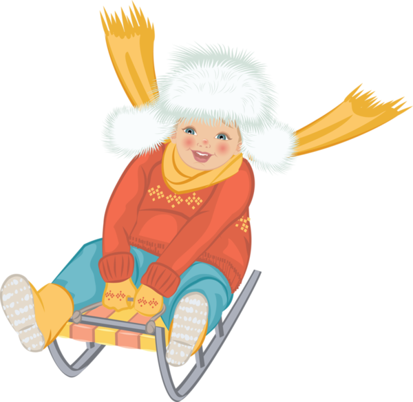 Sled clipart people. Illustration individual person cute