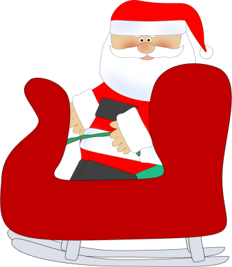 Sledding clipart santa claus sled. Free christmas sleigh pictures