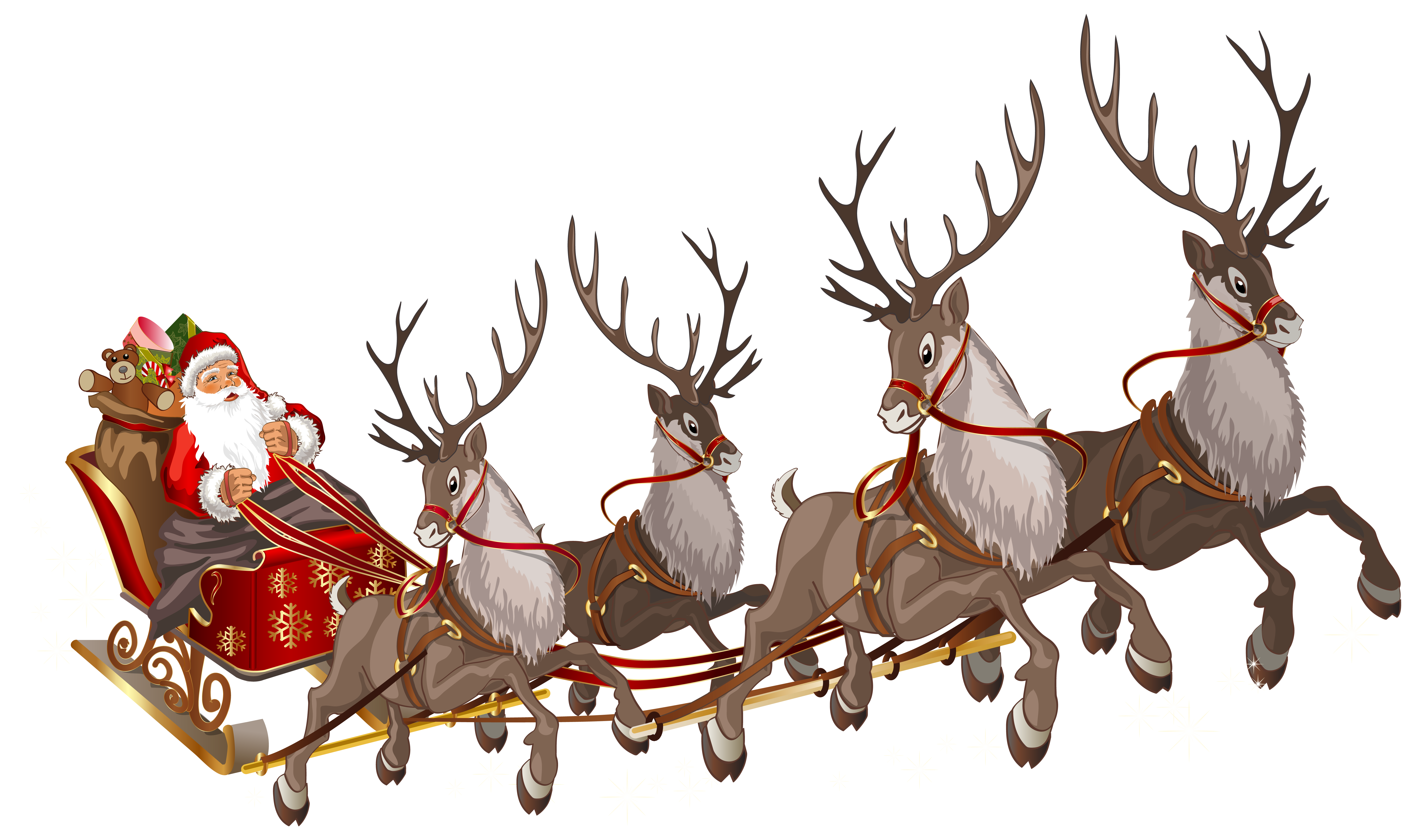 Santa claus sleigh png. With clipart image gallery