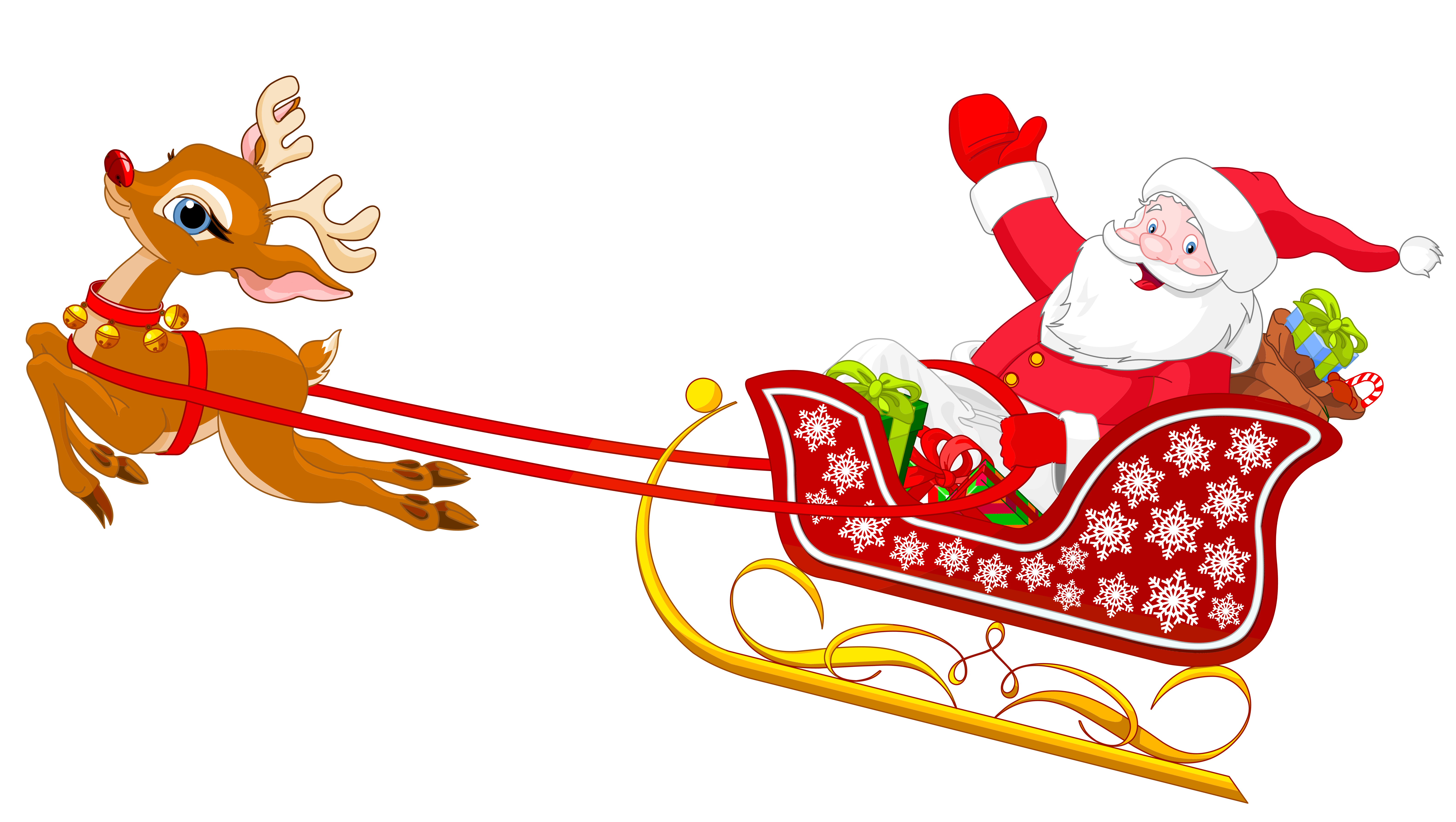 Vector santa minimalist. Sleigh clipart at getdrawings