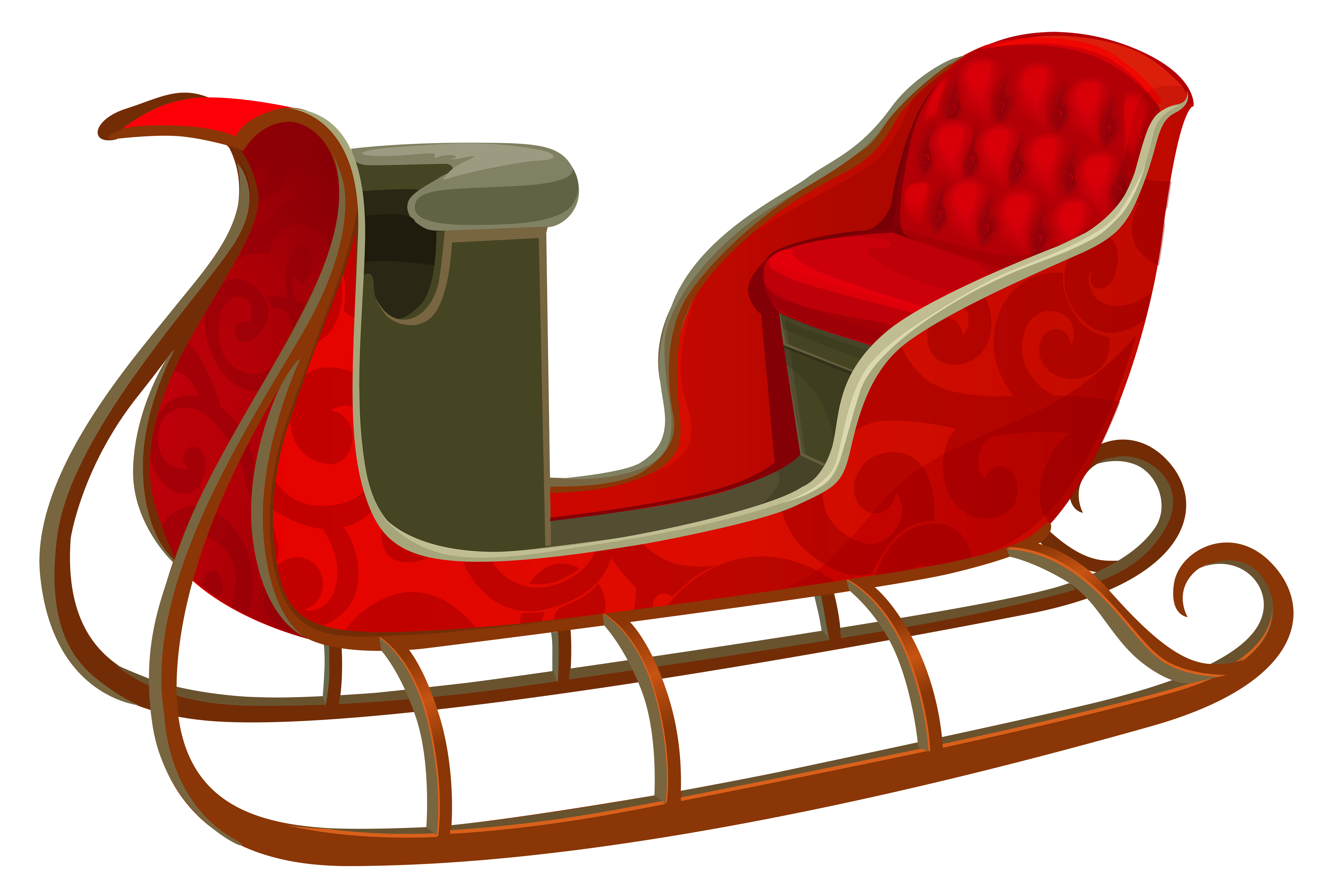 Sledding clipart transparent background. Christmas red sled png