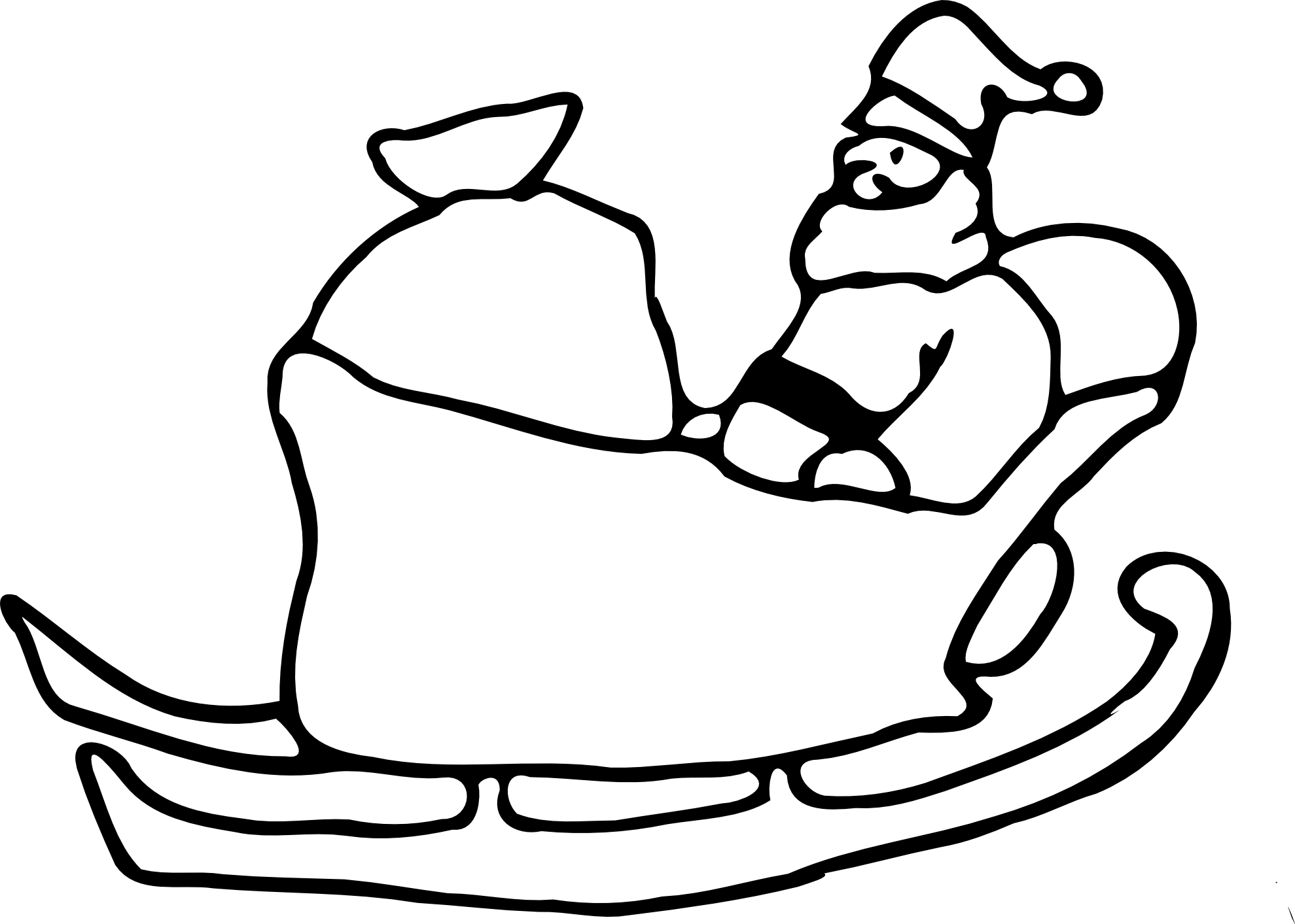 Sledding drawing. Santa sled at getdrawings