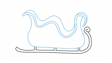Sledding drawing easy. Collection of simple