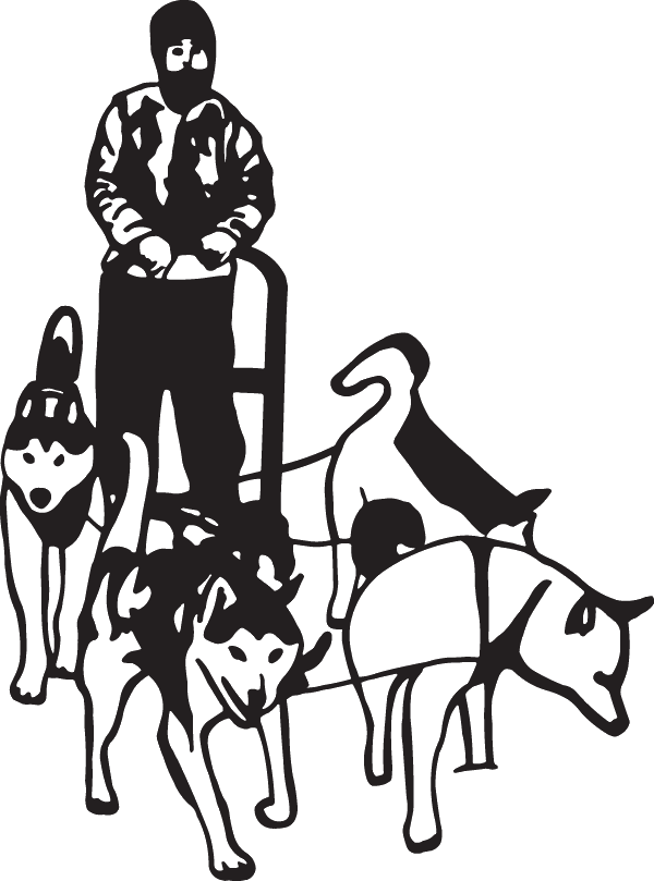 Decal . Sledding drawing iditarod graphic free download