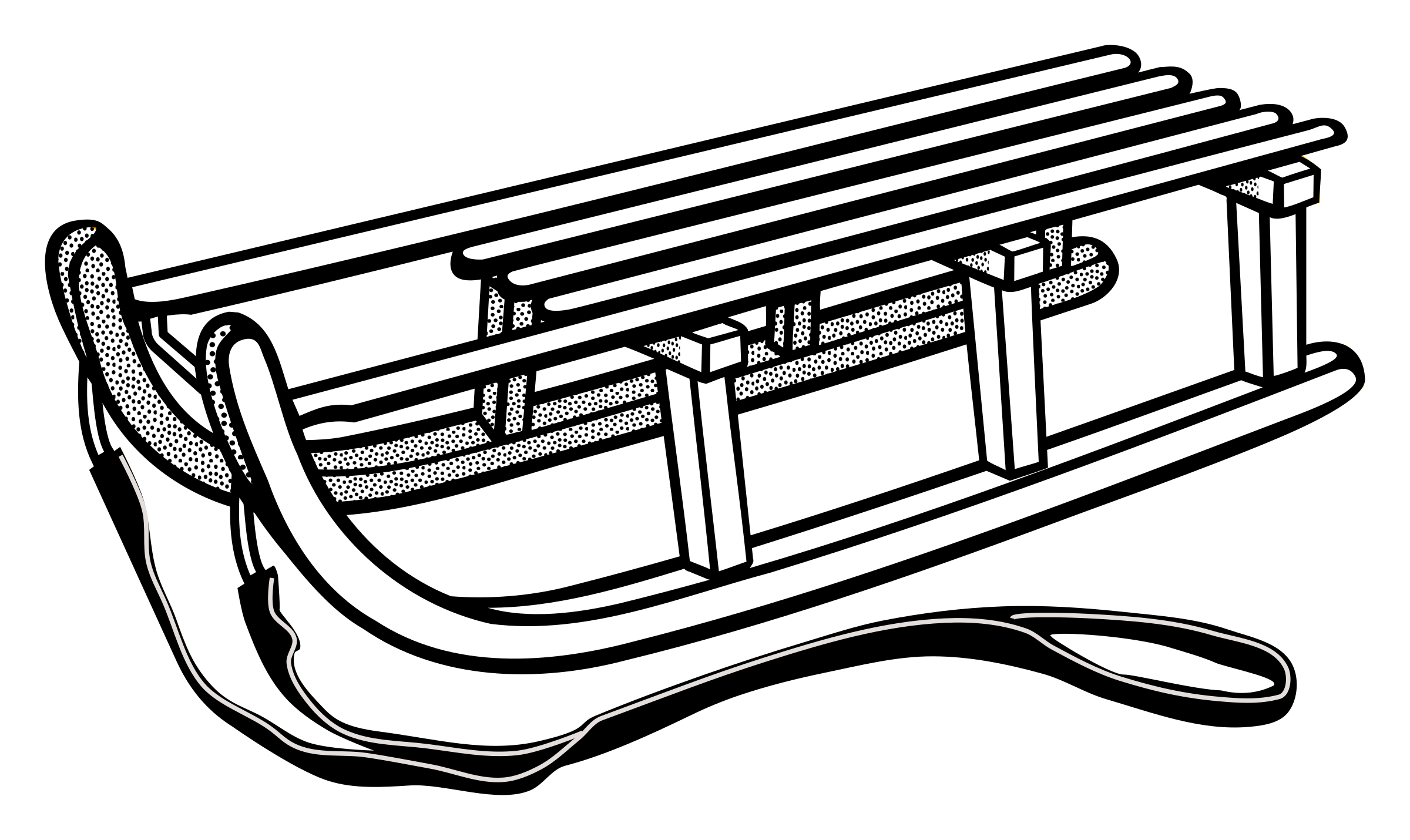 Sledding drawing old fashioned. Clipart sled huge