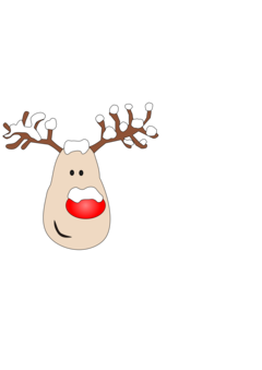 Drawing mac makeup. Santa claus s reindeer
