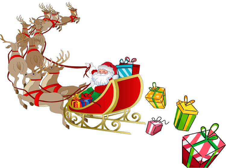 Sledding drawing santa claus sleigh. Web design development christmas