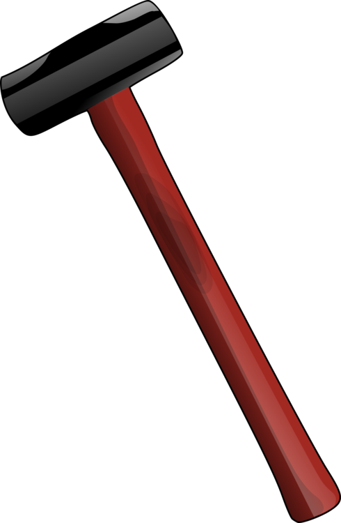 sledgehammer drawing rubber mallet