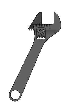 Ratchet drawing wrench. Adjustable spanner wikipedia clip library download