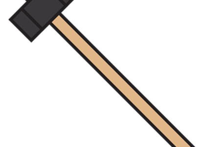 Sledgehammer drawing small. Download wallpaper clipart full