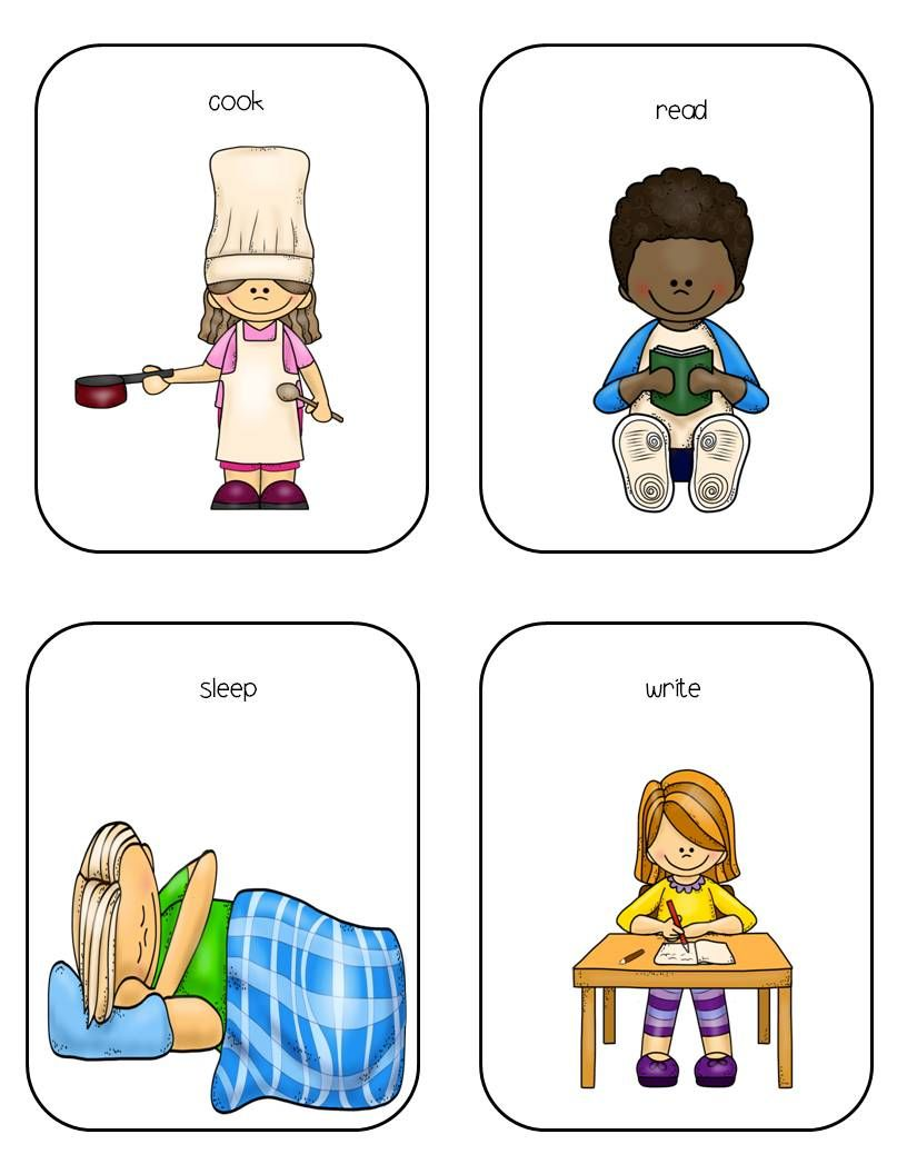 Sleep clipart action word. Words imitation skills verb