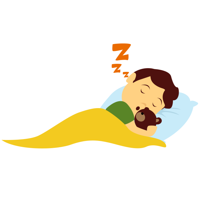Sleeping child png. A day active lifestyle