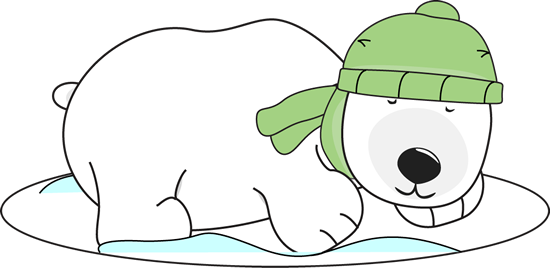 Winter clip art images. Diving clipart polar bear graphic freeuse download