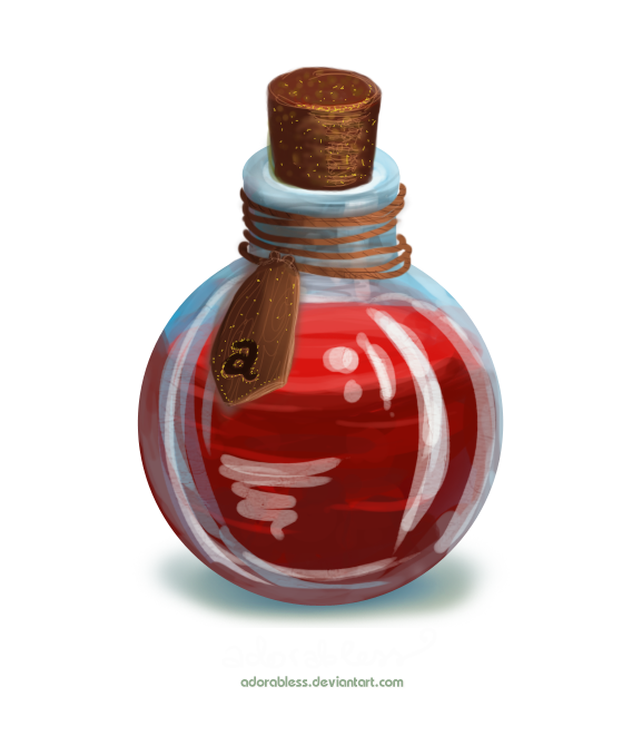 Sleeping potion png. Level life closed by