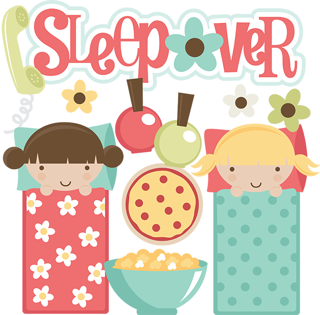 Sleepover clipart. Svg files for scrapbooking