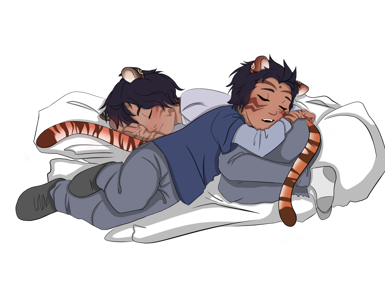 Sleepy drawing couple. You ve entered the
