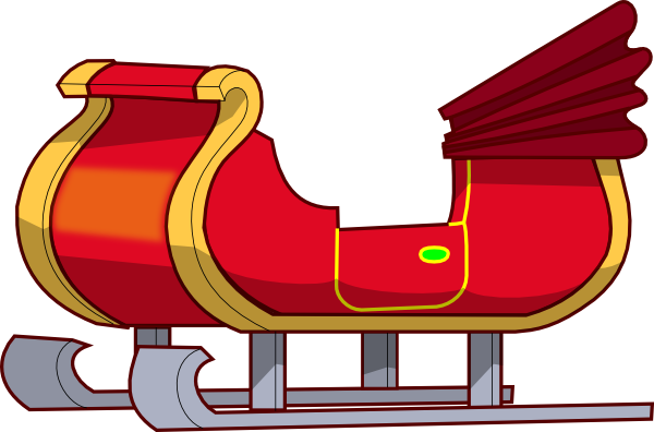 sleigh clipart step by step