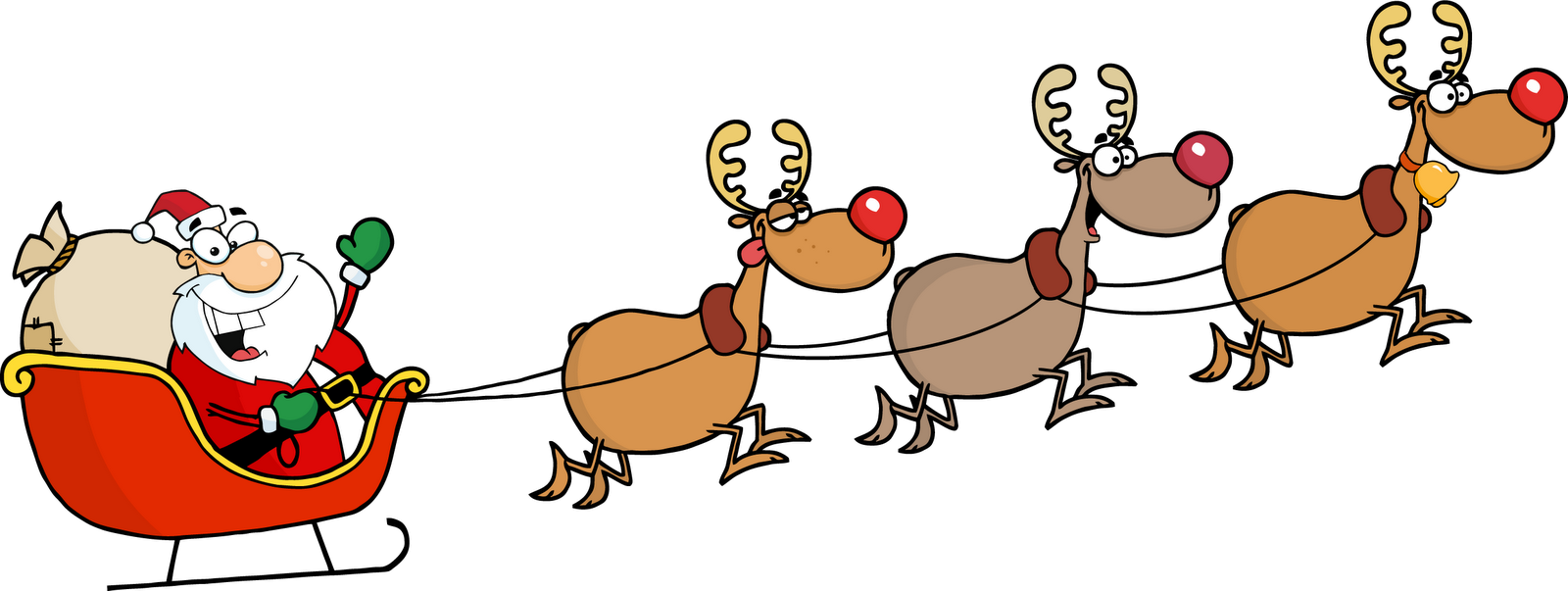 Vector santa reindeer. And gif images png