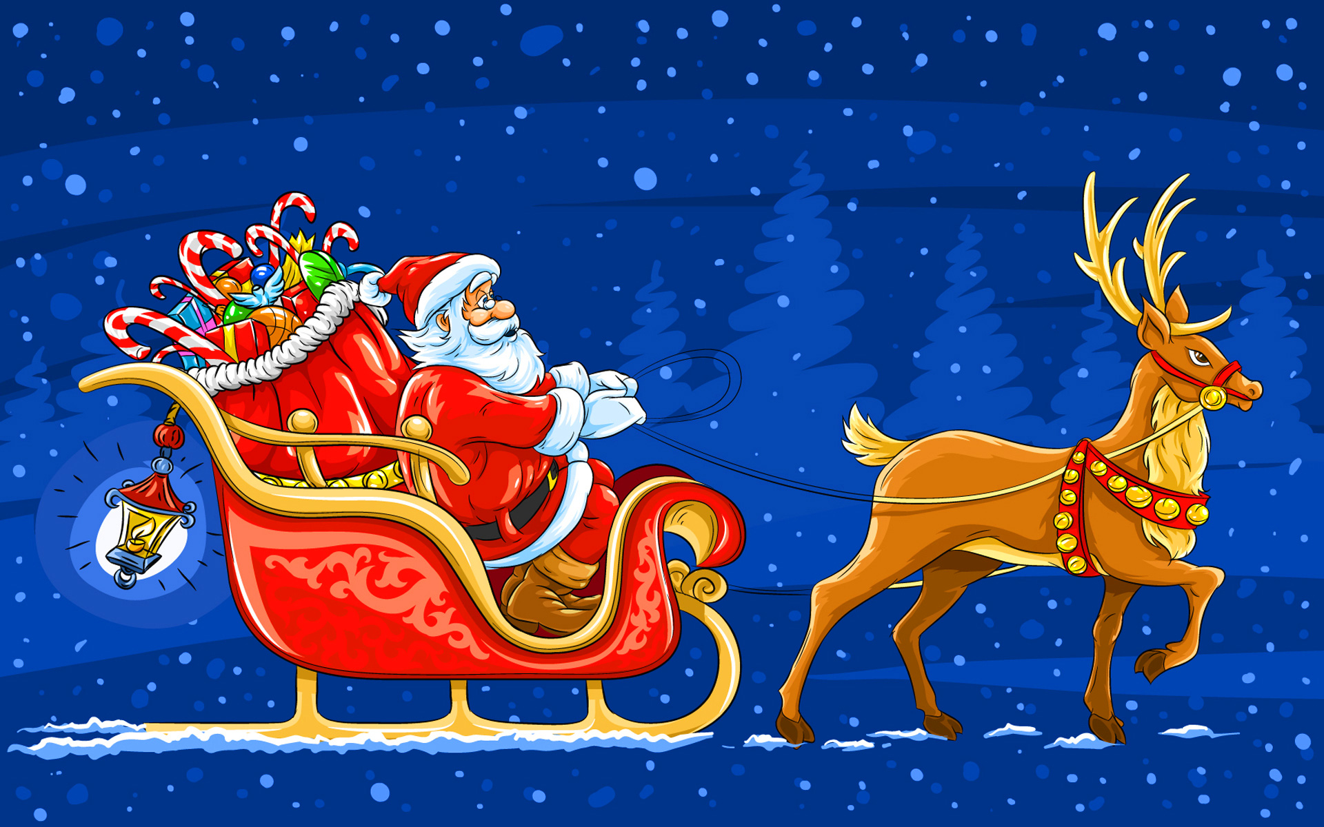 Sleigh clipart blue. Santa with background gallery
