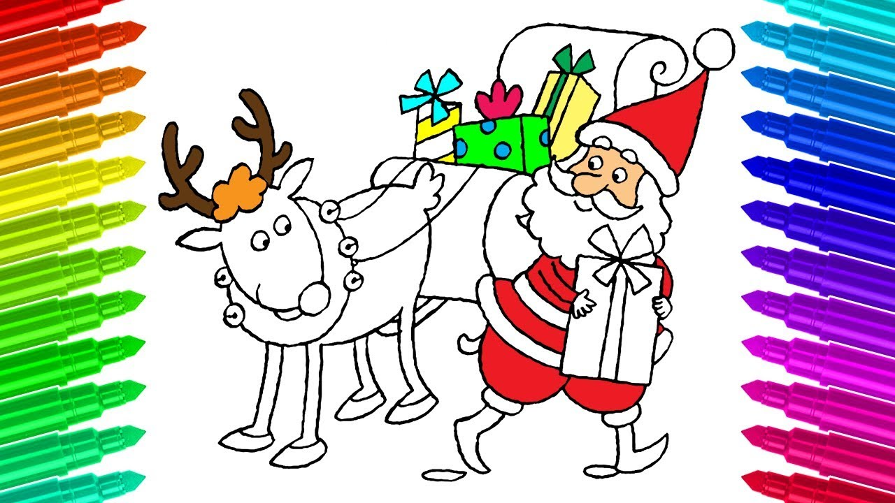 Sleigh clipart step by step. How to draw santa