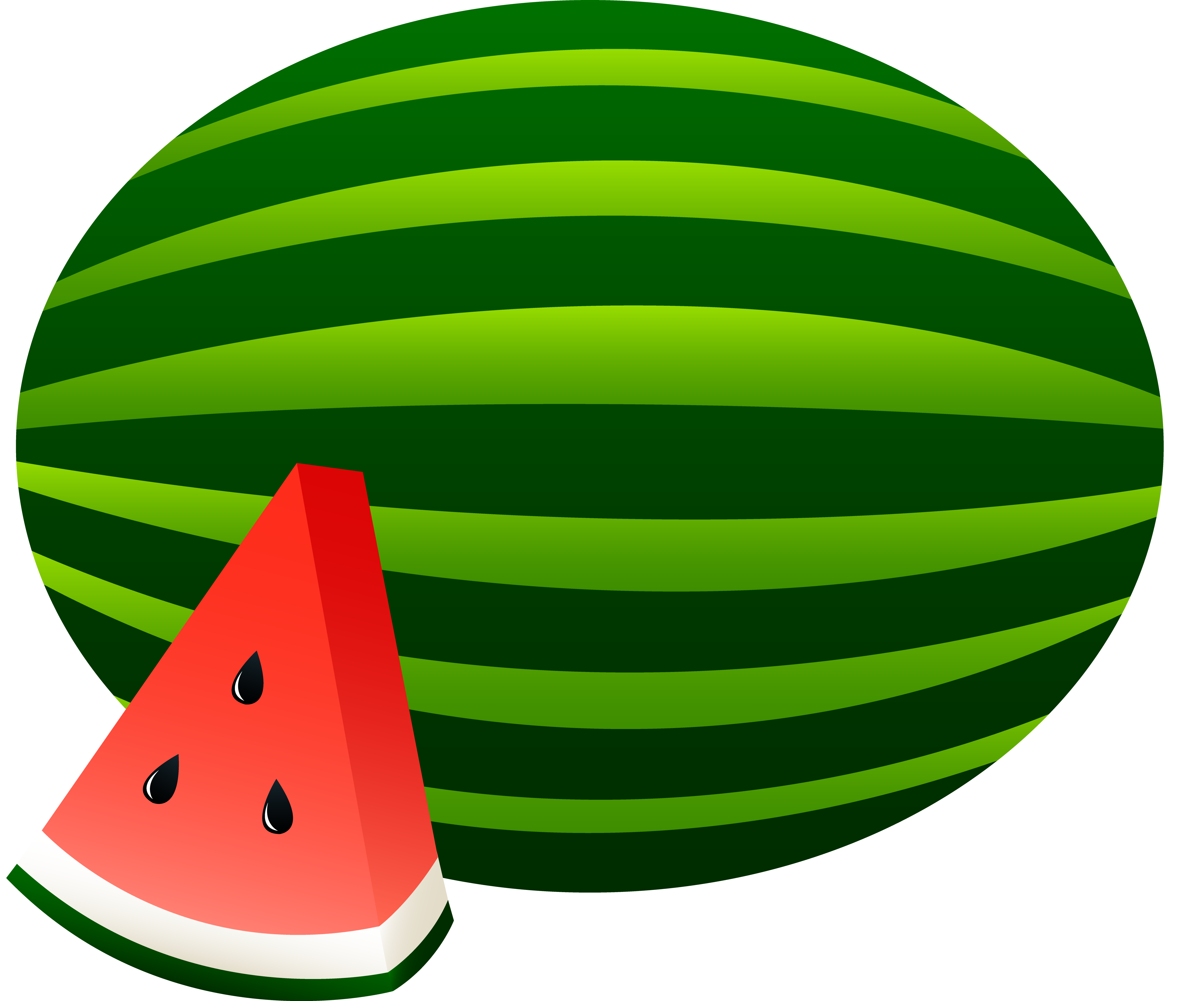 Watermelon clipart juicy watermelon. Whole and slice free