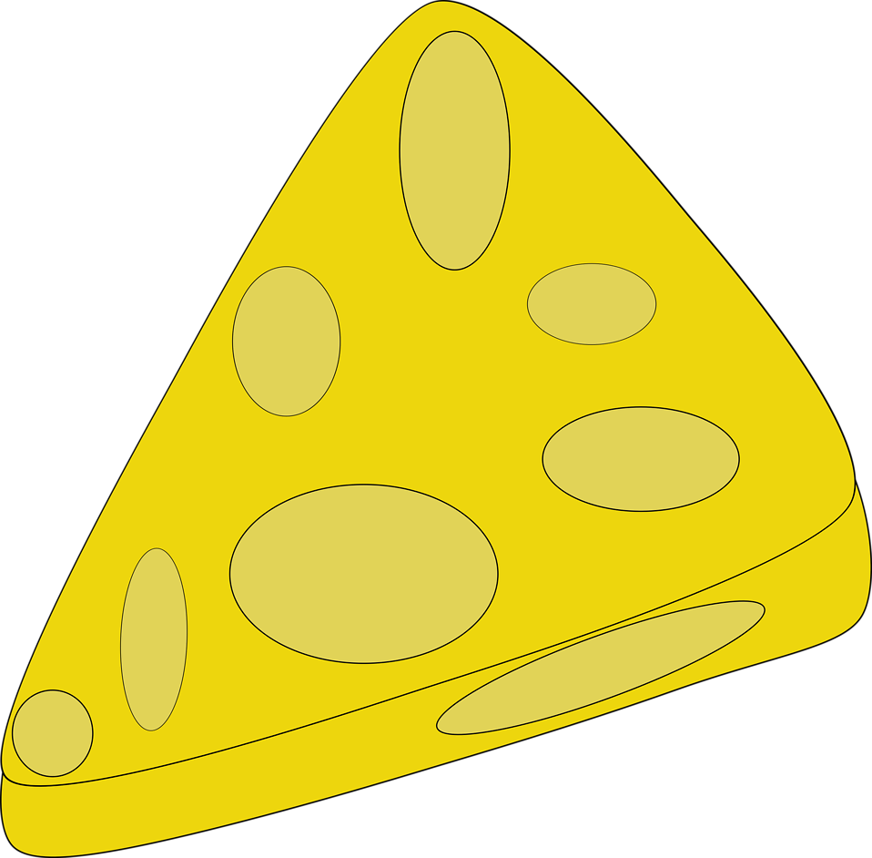 Slice of cheese png. Free stock photo illustration