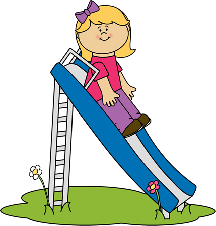 Slide clipart. Girl on a clip
