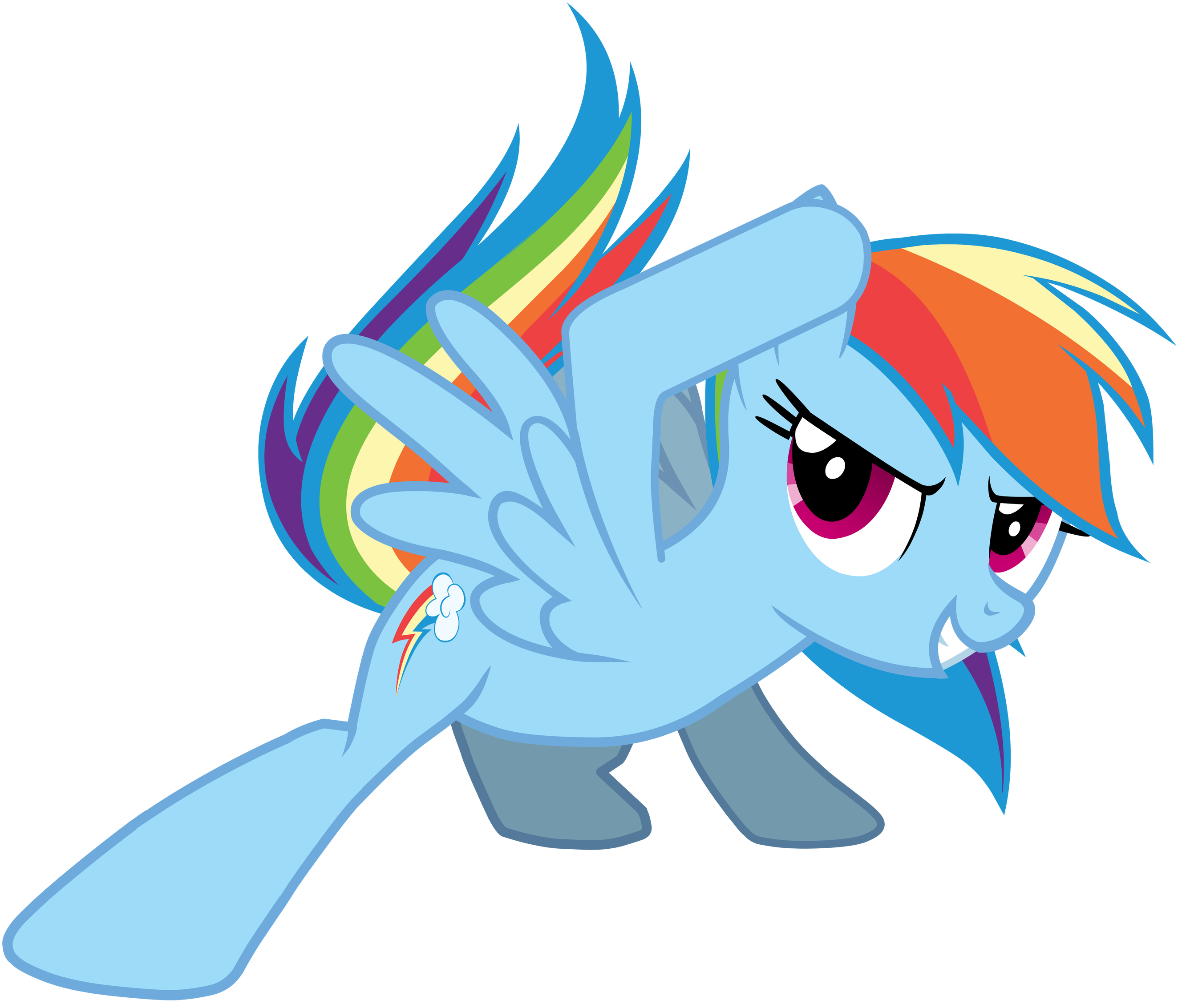 Sliding vector png. Mlp rainbow dash by