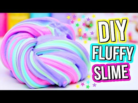 Slime clipart fluffy. How to make super