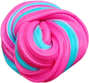 Fluffy slime png. Pink blue sticker by