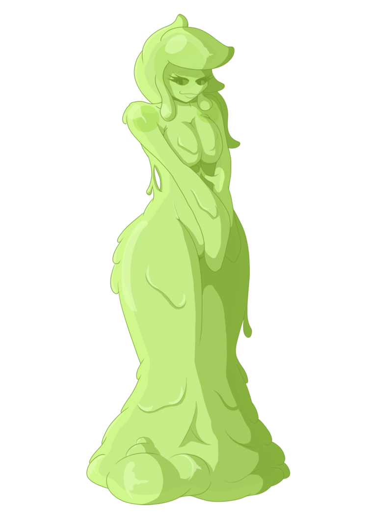 Slime girl png. Mascot by scikosis on