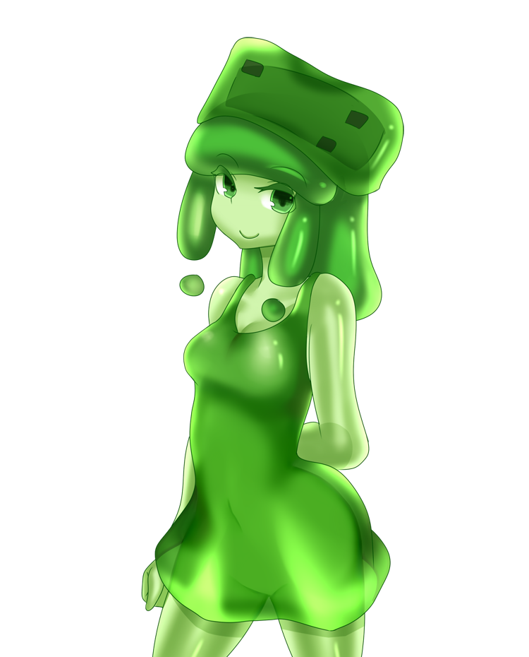 Slime girl png. Transparent images all