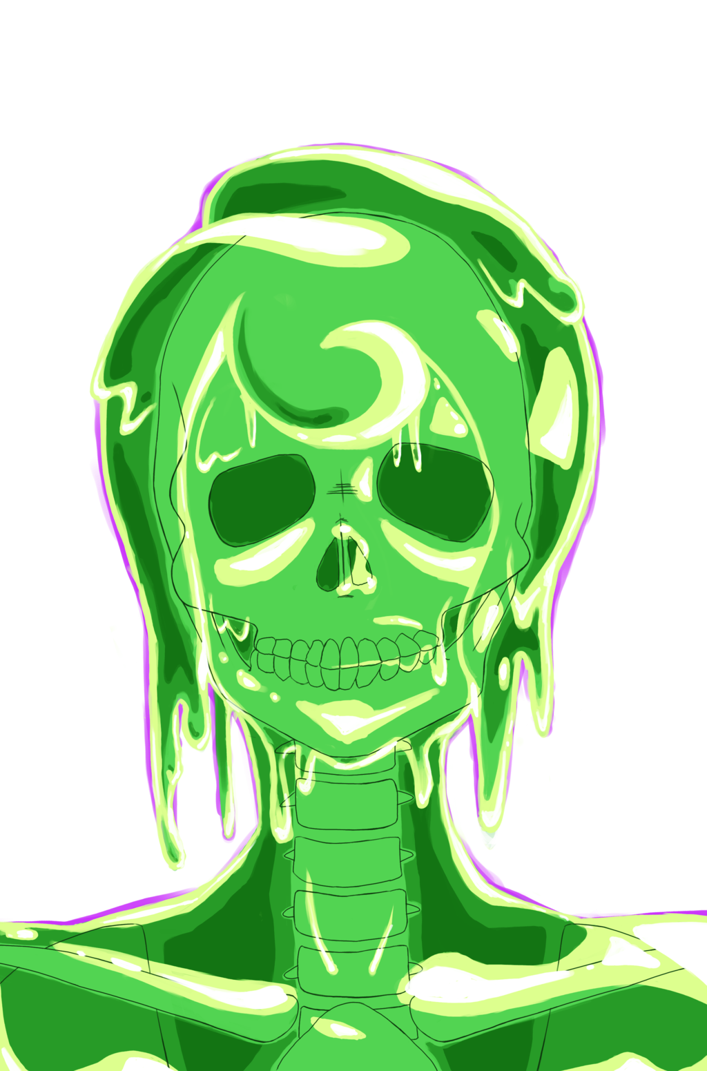 Slime monster png. Girl challenge by cho