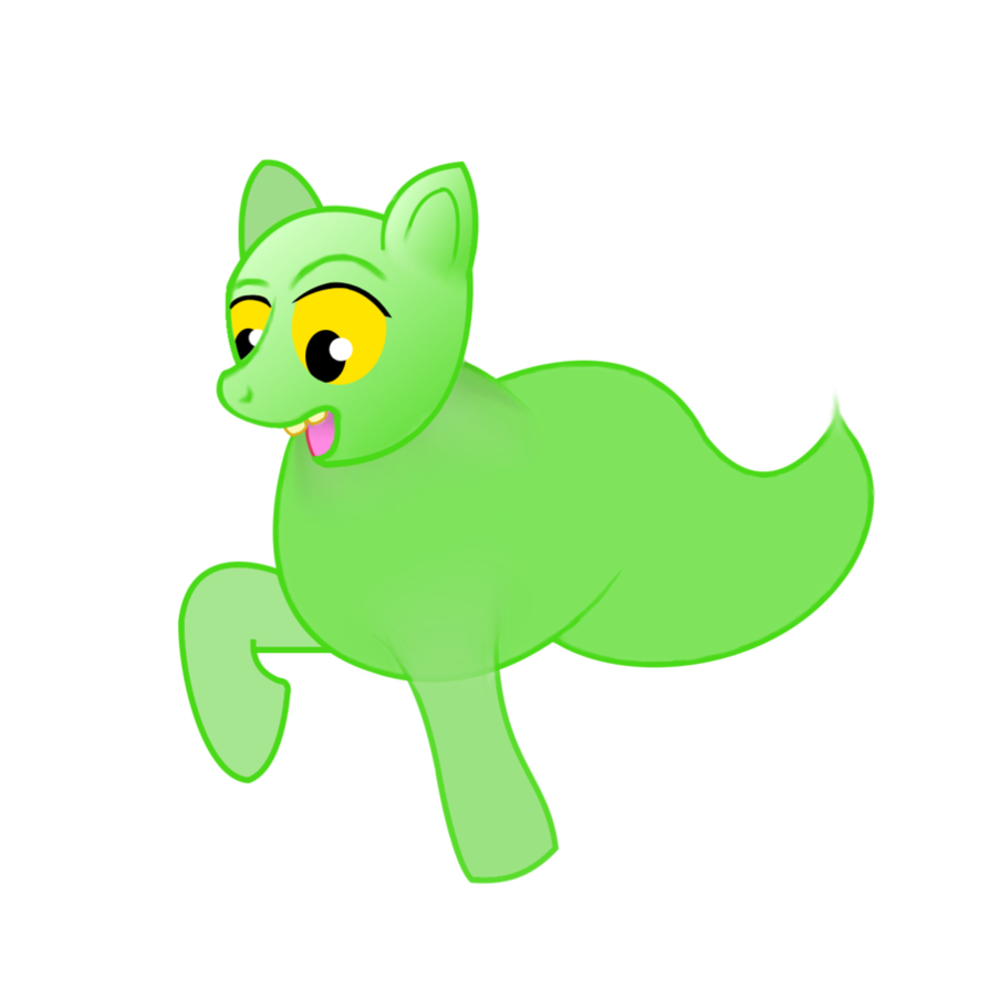 The pony ghost by. Slimer drawing banner free