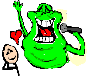 A man falling in. Slimer drawing jpg library library