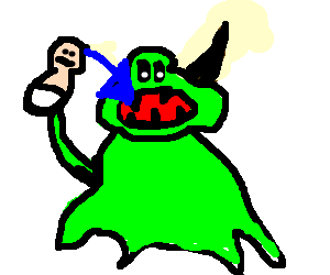 Slimer drawing baby. Cacodemon from doom drawception