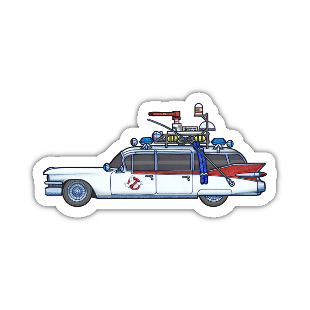 Slimer drawing car. Stay puft marshmallow man