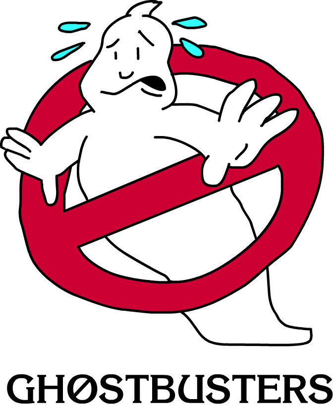 Slimer drawing ghostbusters logo. Attempt by t master